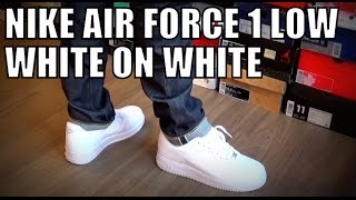 Nike air force 1 low white on white on feet