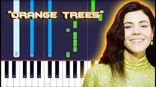 MARINA - Orange Trees Piano Tutorial EASY (Piano Cover)