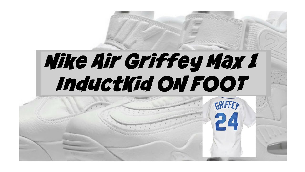 "Nike Air Griffey Max 1 ""InductKid QUICK LOOK ON FOOT - YouTube 36324d695"
