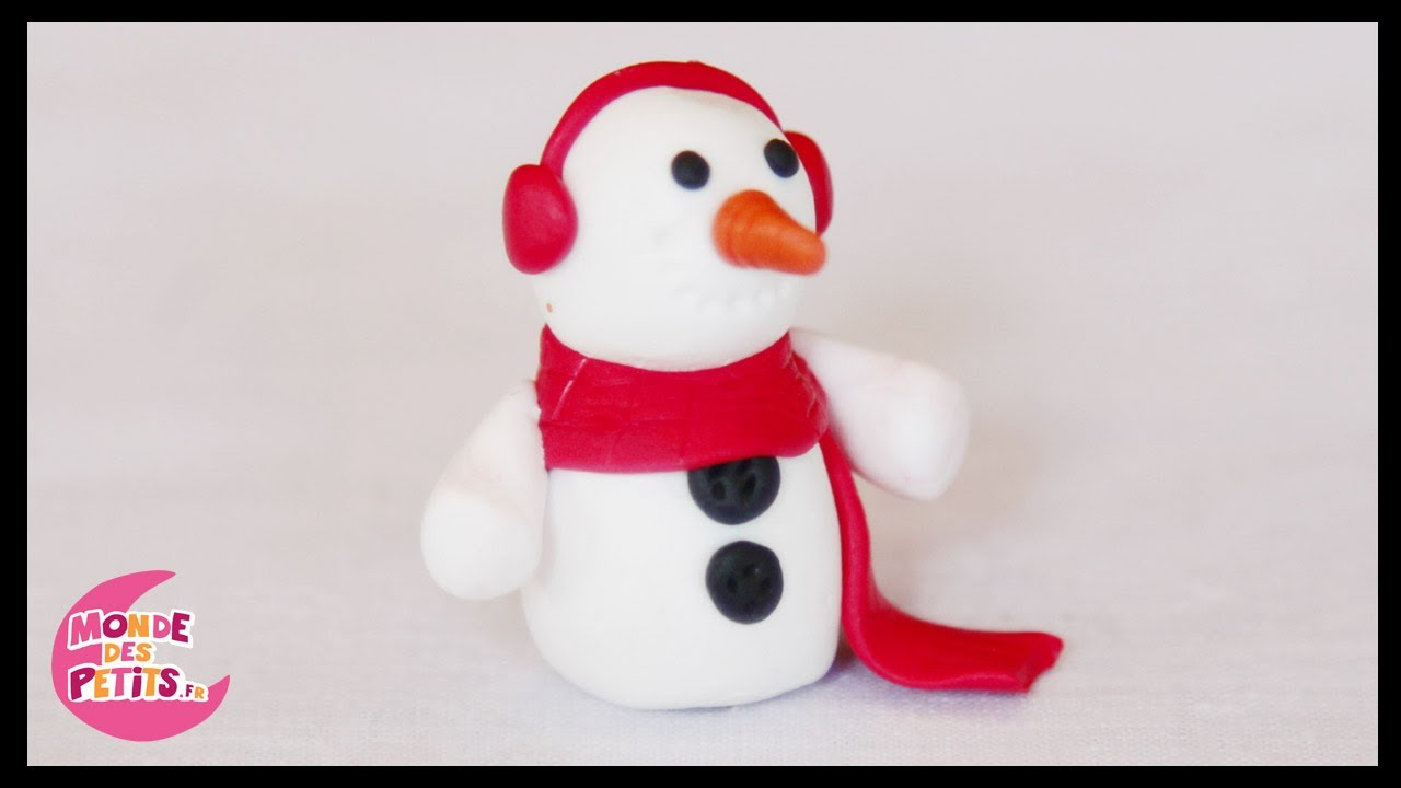 P te modeler le bonhomme de neige de no l youtube - Creation de noel facile ...