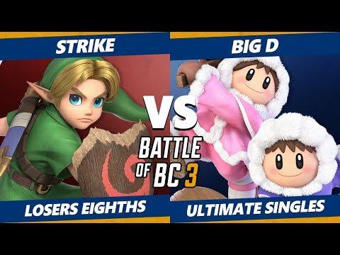 Smash Ultimate Tournament - Strike (Y. Link) Vs. Big D (Ice Climbers, Dedede) BoBC3 SSBU L. Eighths thumbnail