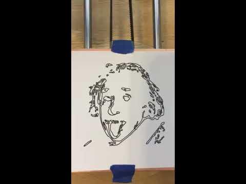CNC Machine Plot of Albert Einstein