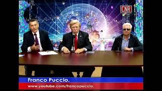 Pete Allman as Pres. Trump Promotes Winds of Freedom, CNR TV Noticias in Mexico, host Franco Puccio