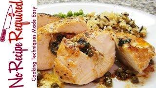 Chicken Breast Stuffed with Chorizo & Spinach - NoRecipeRequired.com