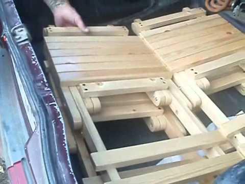 Раскладная садовая мебель