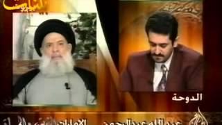 المرجع فضل الله(رض) في حوار مع قناة الجزيرة - برنامج الشريعة والحياة 18-07-1999