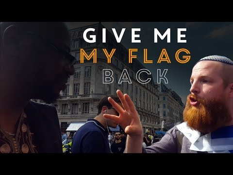 Anti-Israel Thugs Steal Flag From Peace Activist At Antisemitic Al-Quds Rally In London