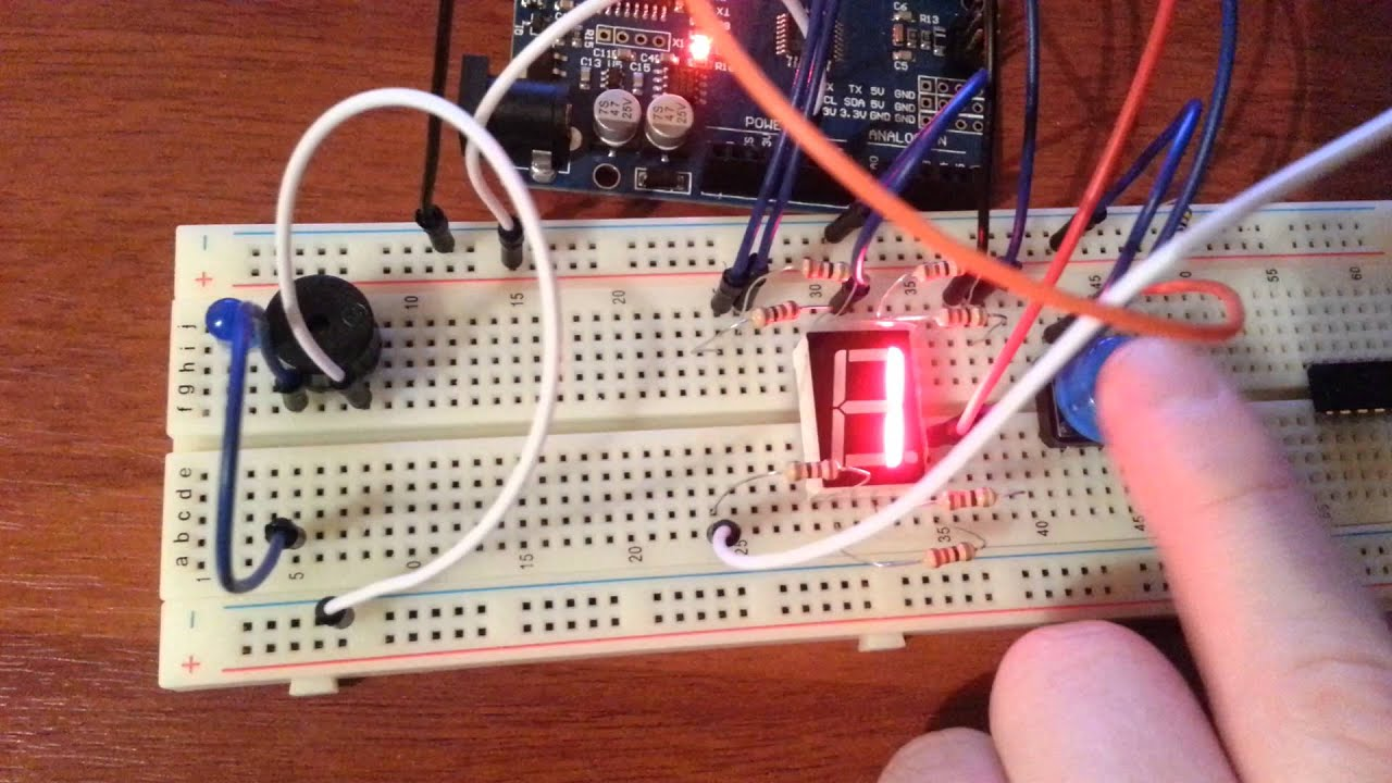 Arduino Counter With Button Youtube Digit 7 Segment Display Also Circuit 4026