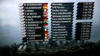 Clasificacion F1 Australia 2011 Audio fuera de aire