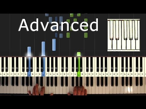 Bach - Prelude in C Major - Piano Tutorial Easy - Bach - how to play (synthesia)