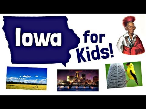 Iowa for Kids | US States Learning Video