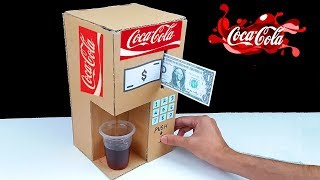 How to Make Coca Cola Fountain Machine from Cardboard at Home thumbnail