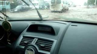 Renault Megane сквозь воду в Уфе