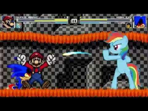 AN Mugen Request #12: Super Mario & Rainbow Dash VS Sonic.exe & Scorpion