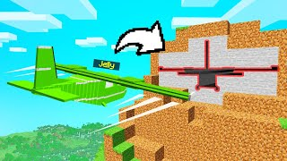 Becoming A STUNT PILOT In MINECRAFT! (Learn To Fly)