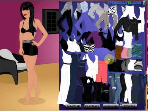 Kim Kardashian Dress-Up Game - Flash Game - Casual Gameplay - YouTube