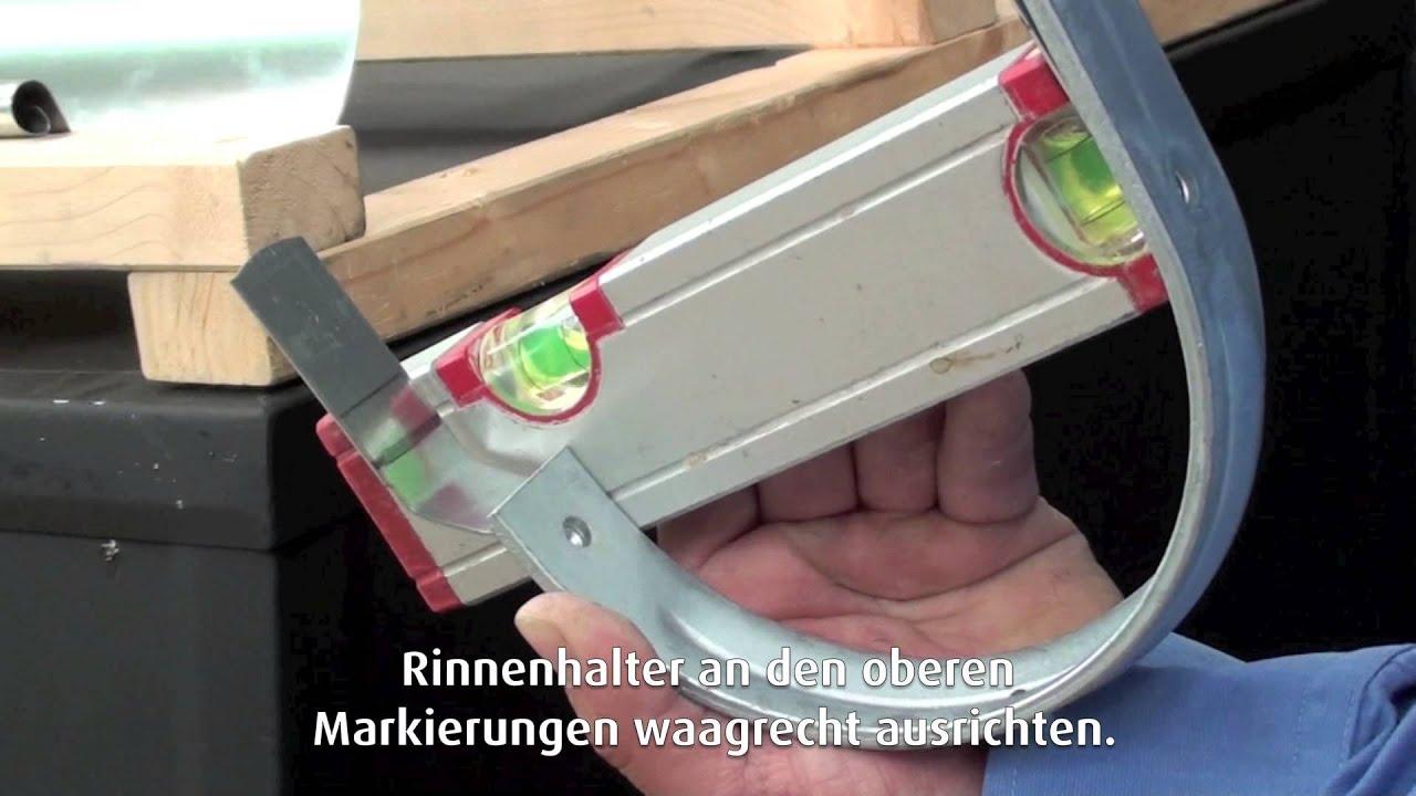 Super Dachrinnen richtig montieren - YouTube FI61