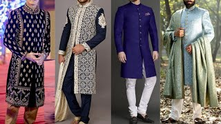 Designer Sherwani For Men 2019-20 | Sherwani With Kurta Pajama 2019-20 | Long Sherwani Design screenshot 1