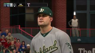 MLB The Show 18 - Oakland As vs Texas Rangers 2P Gameplay (4K60FPS)