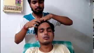 After shower Head Massage   Head Orgasm   Looks Stoned   ASMR