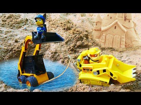 Щенячий патруль на стройке. Машины сказки из игрушек. Видео для детей