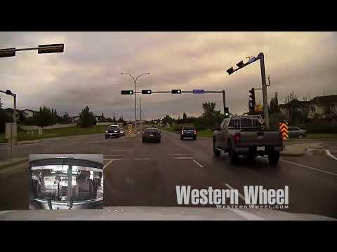 Dash cam video shows police chase through Okotoks
