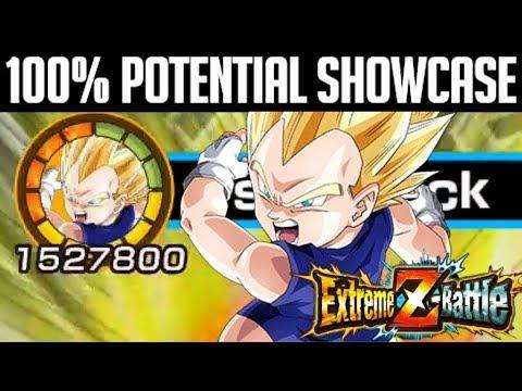 100 Potential F2p Eza Ssj Vegeta Jr Showcase Dragon Ball Z Dokkan Battle Youtube