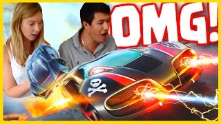 Anki Overdrive - MY CHILDHOOD DREAM VIDEO-GAME TOY! - Anki Overdrive Funny Moments