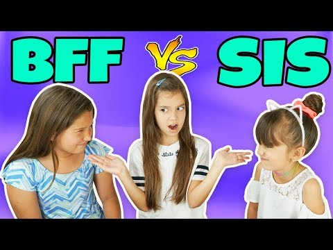 WHO KNOWS ME BETTER? BFF vs SIS CHALLENGE