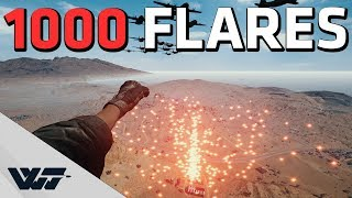 WE FIRED 1000 FLARES - PUBG