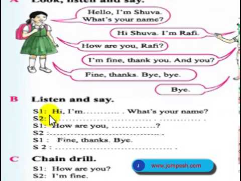Class 2 english unit 1 lesson 1 greetings and introductions class 2 english unit 1 lesson 1 greetings and introductions youtube m4hsunfo