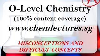 GCE O Level Chemistry - Writing of Ionic Equations - Misconceptions and Difficult Concepts