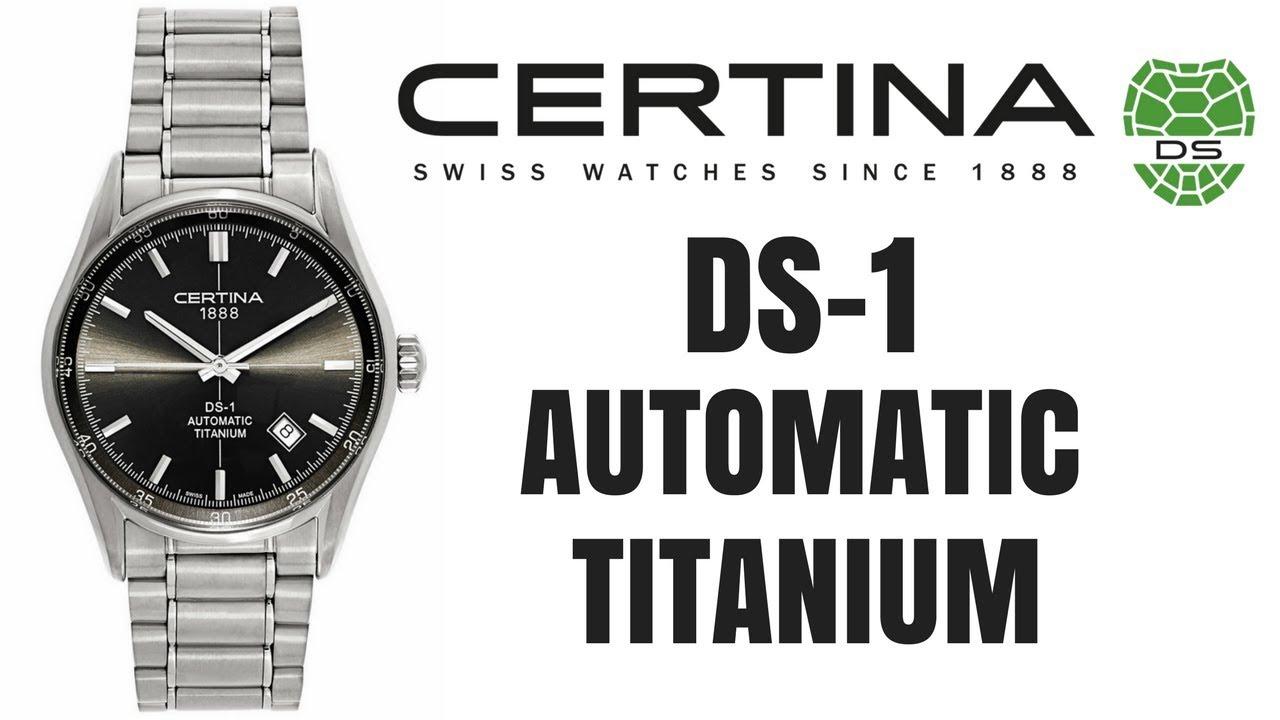 (4K) CERTINA DS 1 TITANIUM MEN'S WATCH REVIEW MODEL: C006