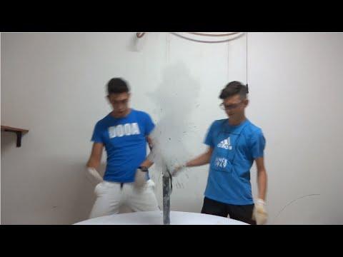 H2O2 + KMnO4  Geyser