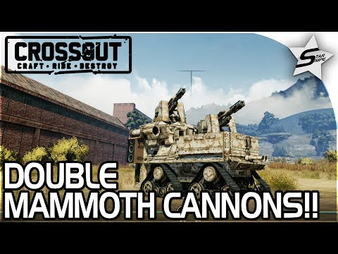 "DOUBLE MAMMOTH CANNON TANK?! - ""TOO MANY MAMMOTHS!!"" - Crossout Beta NEW Gameplay"