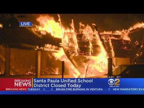 Vista Del Mar Hospital In Ventura Burns Down