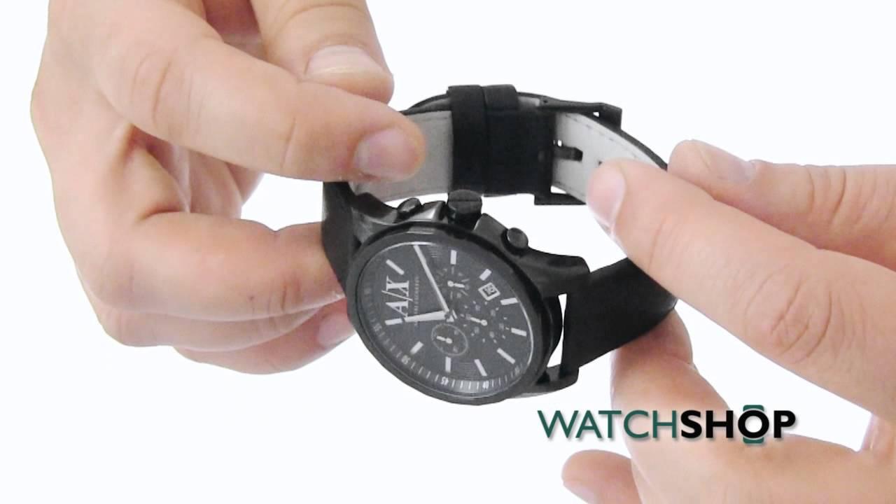 fe2b4a0c34ac Men s Armani Exchange Chronograph Watch (AX2098) - YouTube