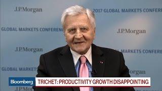 Jean-Claude Trichet Says U.S., Europe Growing 'Miserably'