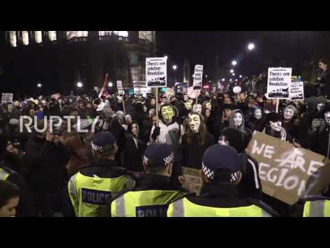 UK: Thousands take part at Anonymous Million Mask March in London