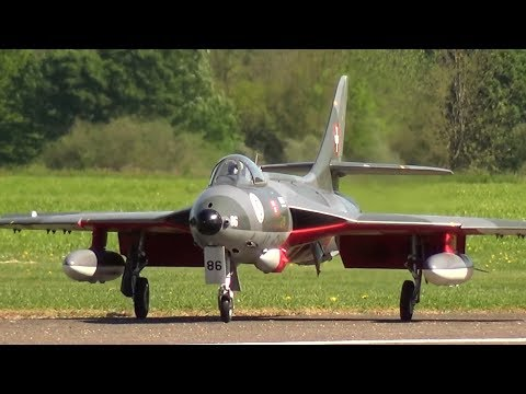 Radio controlled Turbines Model Jet with 220 Newton Thrust Swiss Army Hawker Hunter MK 58