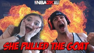 WOW SHE PULLED THE GOAT! HILARIOUS FLASHBACK PACK OPENING WITH MY GIRLFRIEND- NBA 2K16 MYTEAM