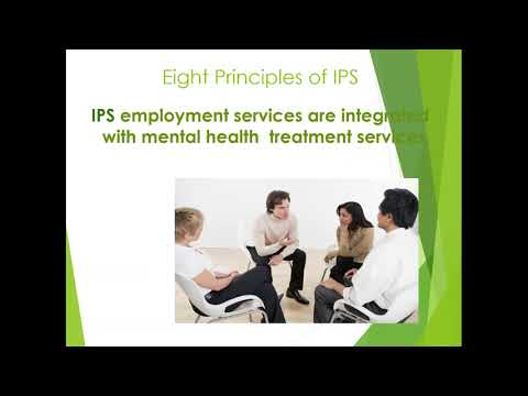 Individual Placement Support (IPS) Model To Assist Job Seekers With Mental Illness  May 2018