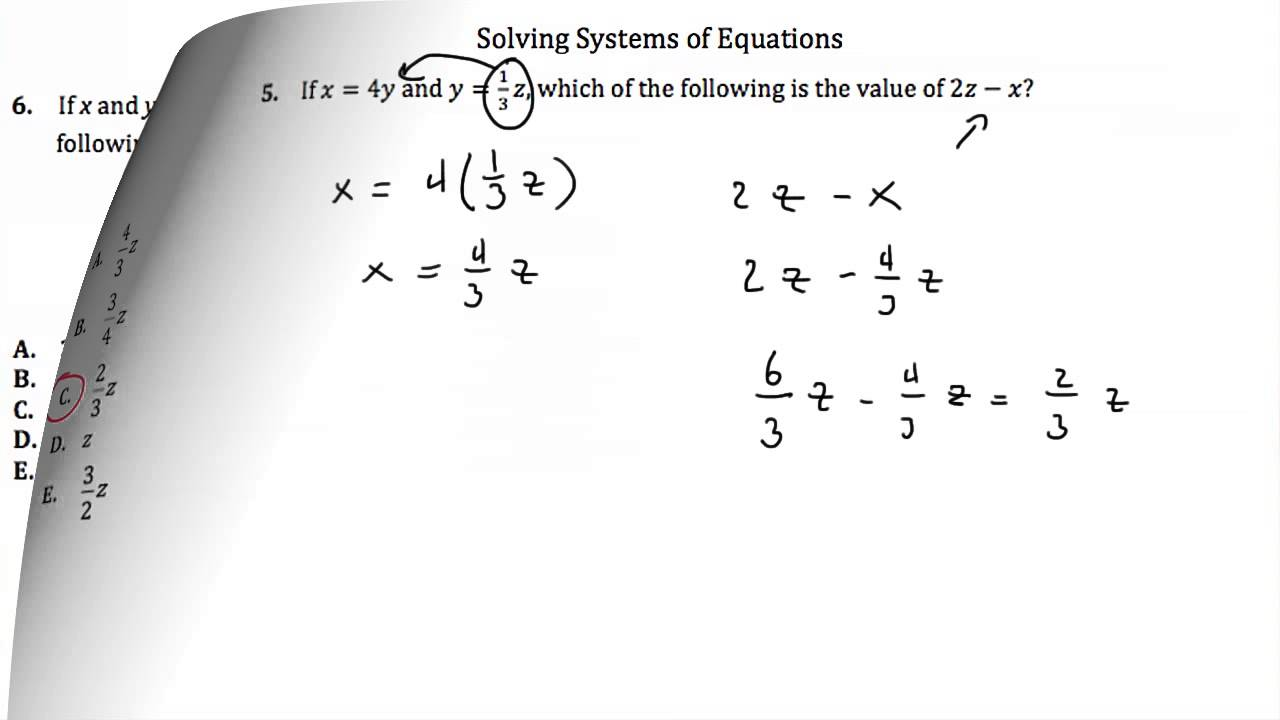 hight resolution of ACT Questions: Intermediate Algebra (solutions