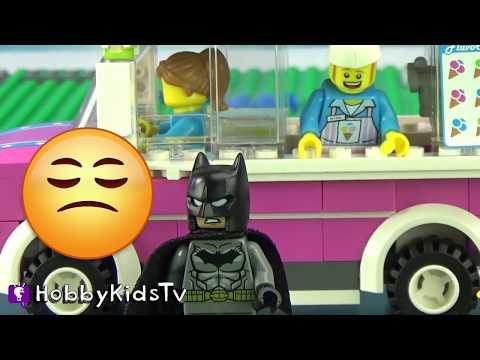 Batman Lego Truck! Imaginext Bat Cave HobbyKidsTV
