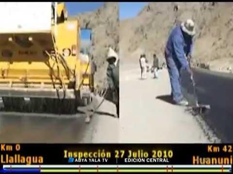 Sucre: Avance de obras en la vía diagonal Jaime Mendoza – Lunes 20 de junio 2016