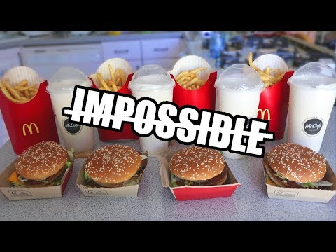 """The """"Impossible"""" Big Mac Challenge DESTROYED"""
