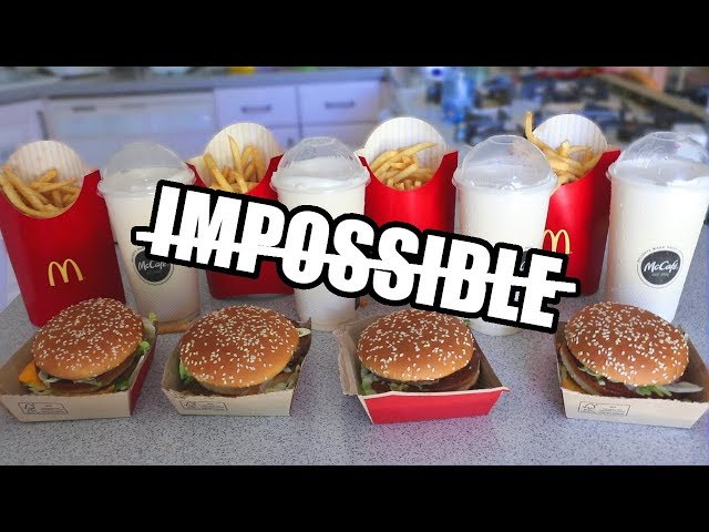 The Impossible Big Mac Challenge DESTROYED