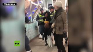 Tolerance in Sweden: Pregnant black woman forcibly dragged off subway train