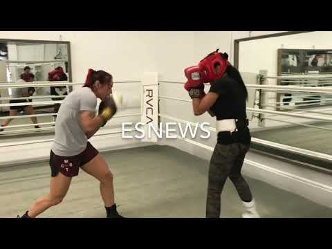 UFC P4P Best Woman Cris Cyborg Sparring 5 Time Champ Mia St John for holly holm fight  Es