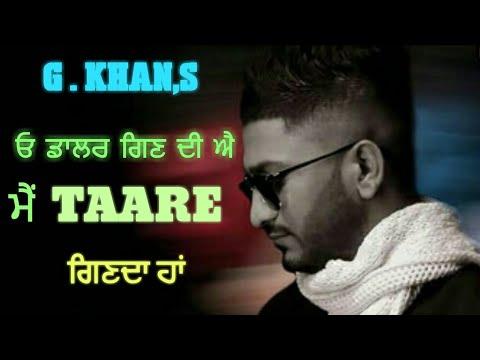 Taare | G Khan | New Punjabi Songs 2018 | Latest Punjabi Songs | By Music Track Chakde